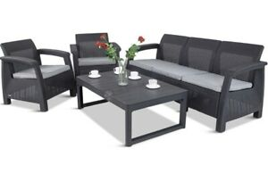 Garden Furniture Set With Adjustable Table