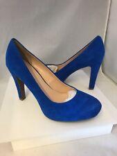 Franco Sarto Cicero Women's Blue Suede Pumps Heels Shoes Size 10 M New