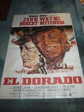 "EL DORADO(1967)JOHN WAYNE ORIGINAL FRENCH POSTER 47""BY63"" NICE!"