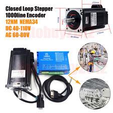 1712oz-in NEMA34 Closed Loop Stepper Motor 12NM Hybrid Servo Driver 2HSS86H Kits