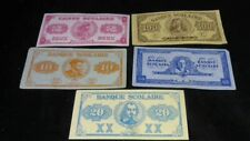 Canada Montreal Bank Scolaire SET OF 2$,10$,20$,50$,100$, SCHOOL HISTORY