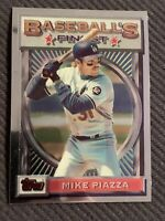 TOPPS 1993 BASEBALL'S FINEST MIKE PIAZZA LOS ANGELES DODGERS - CARD #199