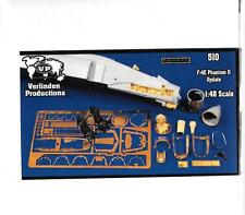 Verlinden F-4E Phantom II Update Upgrades, Resin, Photo Etch Details 1/48 510 ST