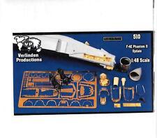 Verlinden F-4E Phantom II Update Upgrades, Resin, Photo Etch Details 1/48 510 ST