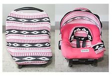 WHOLE CABOODLE CarSeat Canopy 5pc Set ZARA JERSEY STRETCH Baby Car Seat Cover