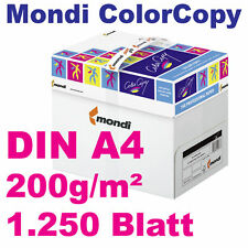 ColorCopy 200g DIN A4 1250 Blatt Mondi Neusiedler Druckerpapier weiß Color Copy