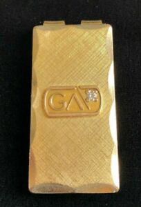 Vintage Georgia GA 12K Yellow Gold Filled Diamond Money Clip