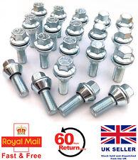 20 x alloy wheel M12 x 1.5 Wobble Wobbly Vari bolts variable PCD - Vauxhall