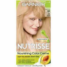 Garnier Nutrisse Nourishing Hair Color Creme, 101 Light Buttery Blonde