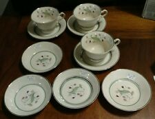10 Pieces Syracuse China Old Ivory Coralbel Cups Saucers Berry Bowls