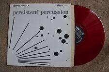 Persistent Percussion Red Vinyl Record lp VG