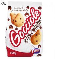 6x Pavesi Barilla Kekse Gocciole 500g Italien biscuits cookies kuchen brioche