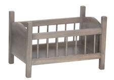 "BABY DOLL GRAY CRIB Amish Handmade in USA Fine Wood Play Furniture 12-18"" Dolls"