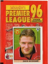 Merlin Premier League 1996 David Beckham Rookie Sticker #40 Excellent Condition