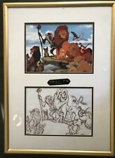 Lion King & Pinocchio Production Cel and Drawing (Framed)