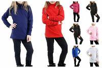 Kids Girls Boys Unisex Long Sleeve School Uniform Polo Neck Top T-Shirt 5 -13