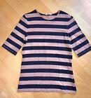 ESPRIT Damen T-Shirt geringelt gestreift alt-rosa blau halber Arm *GR.S