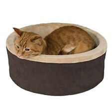 """GC - K&H - Heated Kitty Bed 20"""" - Mocha Brown"""