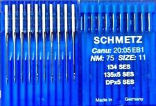 SCHMETZ DPX5SES 135X5SES 134SES NM:75 SIZE:11 INDUSTRIAL SEWING MACHINE NEEDLE