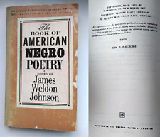THE BOOK OF AMERICAN NEGRO POETRY-J.WELDON JOHNSON-HARBRACE PAPERBOUND-1969