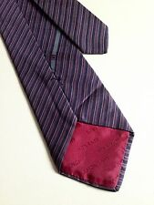 Givenchy red light purple silk men's tie