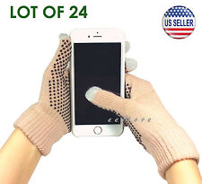 Wholesale Lot of 24 Touch Screen Gloves Smartphone Tablet Pad US Stock (CAMEL)