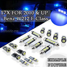 17x Blue LED Interior Lights Package Kit for 2010&up Mercedes W212 E-Class PL