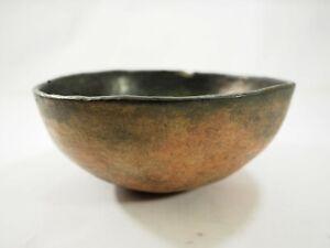 Prehistoric Hohokam Gila Smudge pottery Bowl 800-1450 AD Florence AZ NAA-217