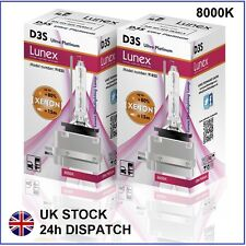 2 x D3S Genuine LUNEX XENON NEW BULB compatible with 66340 9285304244 UPT 8000K