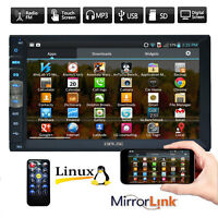 """Double 2 Din IN Dash Car Stereo 7"""" Video MP5 Player Mirror Link for Android GPS"""