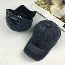 Adjustable Polo Style Washed Plain Solid Visor Jeans Cotton Cap Baseball Cap Hat