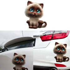 Funny Body Car Sticker Animal 3D Cartoon Lovely Cat 15*18cm Car Window Decor