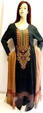 Shalwar kameez eid pakistani designer salwar sari abaya hijab green suit uk 14
