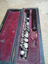 More details for piccolo vintage wooden f.o. adler with case