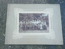Large Victorian Postmortem / Funeral Procession Photograph  Family Around Coffin