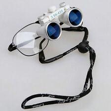 2* Dental Medical Binocular Magnifier Surgical Loupes Glasses 3.5X 420mm Sale