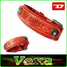 New Style DIESEL Leather Bracelet Orange Bangle Wristband Mens Women Surfer BD21