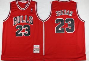 Michael Jordan #23 Chicago Bulls Stitched Retro Basketball Jersey- Red