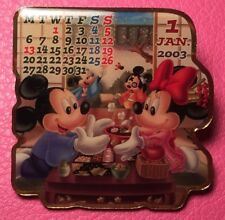DISNEY PIN - MICKEY MOUSE and MINNIE January 2003 Calendar Japan M&P LE