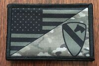 Subdued 1st Cavalry Division USA FLAG Morale Patch Tactical Military Multicam