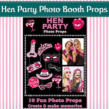 Hen Night Party Selfie Photo Props Booth Kit Games Accessories Bride to Be