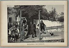 Kegeln, Kegelsport - Preiskegelschieben - Grafik, Stich, Kotschenreiter 1886