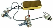 "Gold ""Snake Oil"" Mini Humbucker Pre-Wired Guitar Pickup with Volume & Tone"