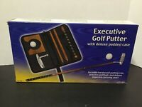 Executive Portable Golf Putter Set - With deluxe padded Case! New