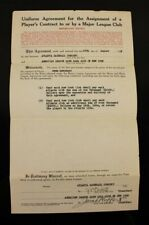 Jacob Ruppert Signed Baseball Autographed Contract New York Yankees