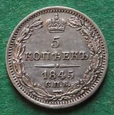 Russland 5 Kopeken 1845 Silber fast vz hübsch nswleipzig