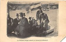 B94226 President Kruger greeting when land famous people south africa corner cut