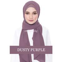 Fashion Women Chiffon Solid Color Shawl +Hats Headband Hijab Muslim Turban Scarf