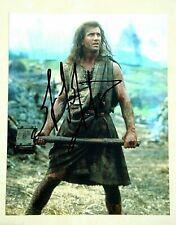 Mel Gibson / Braveheart / Signed 8X10 Celebrity Photo