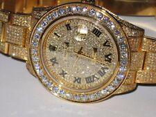 Mens Rolex Datejust II 18K Gold Diamonds Everywhere